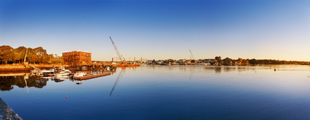 Piscataqua River, Portsmouth, New Hampshire, during the construction of the replacement Memorial Bridge photo