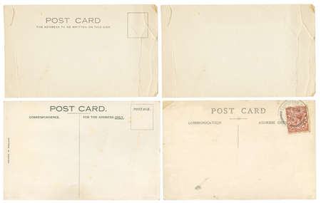 post cards: Early 1900s torn and creased Post Cards, including one blank one