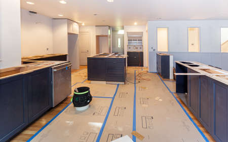 balsa: Balsa wood template arranged and glued for making engineered stone countertops