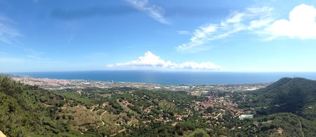 View from the Burriac Castle, in maresme, mediterranean coast