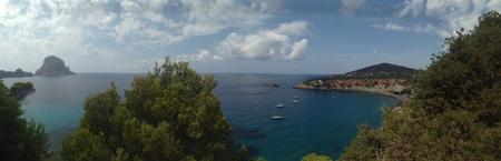 vedra: Panoramic view of Es Vedra, in Ibiza, Balearic Islands