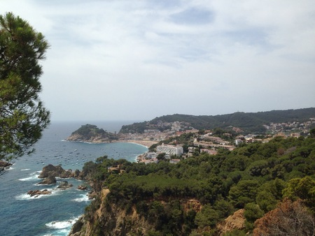 mar: Panoramic view of Tossa de Mar Stock Photo