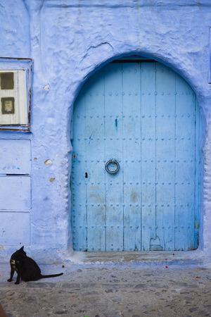 blue door: Blue door in Chefchaouen