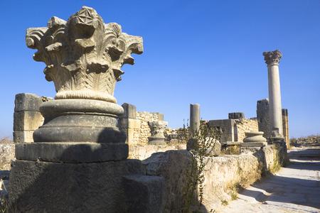 volubilis: Roman temple in Volubilis Stock Photo