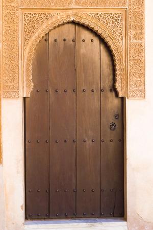 islamic art: Islamic Art, Arab Doorway - Alhambra Palace