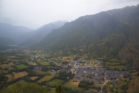 Benasque valley in the pyrenees
