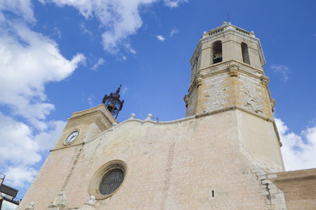 Sitges church in Barcelona province, Spain.