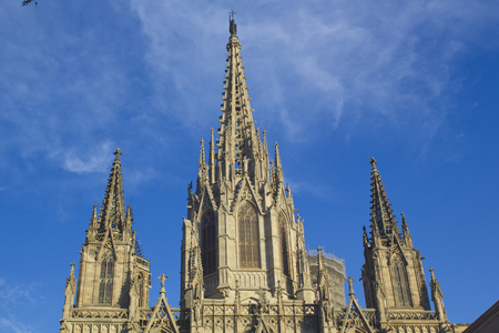 barcelona cathedral: View of the Barcelona Cathedral