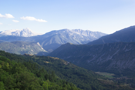 Beautiful landscape of the Benasque valley in the spanish pyrenees