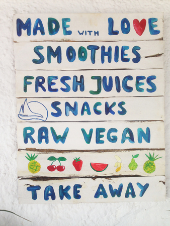 Juice and smoothies list