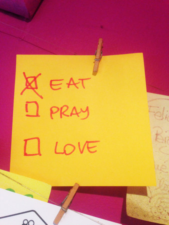 Eat pray and love in a paper