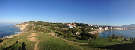 Panoramic view of Saint Jean de Luz in the basque country