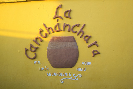 Scene of La Canchanchara a traditional and famous tourist bar in the colonial city. Editorial