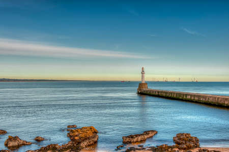Aberdeen harbor, Scotland, United Kingdom. uk