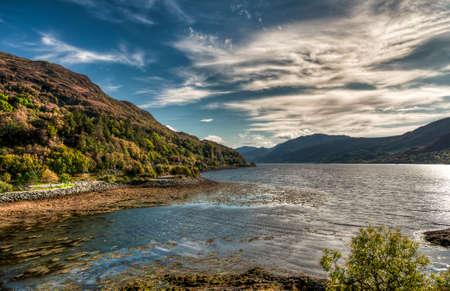 Panoramic view from Scottish highlands. United kingdom Zdjęcie Seryjne