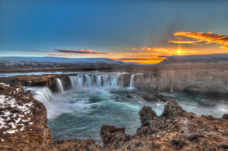 Goðafoss is one of the most spectacular waterfalls in Iceland. It is located in the municipality of Þingeyjarsveit region of Norðurland Eystra in the north of the country