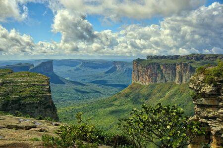 Mountain range saw from the top of Pai Inacio Hill in Chapada Diamantina.