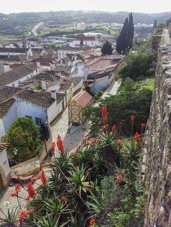 Obidos city in Portugal Stock Photo