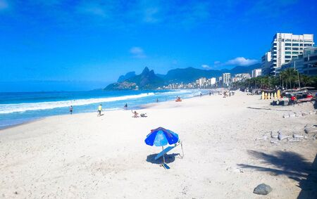Ipanema beach in a summer day in Brazil