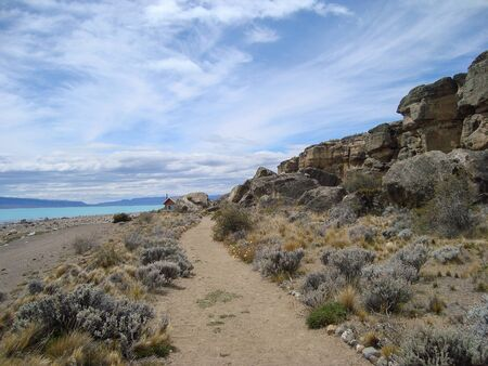 Beautiful pathway in patagonia Argentina