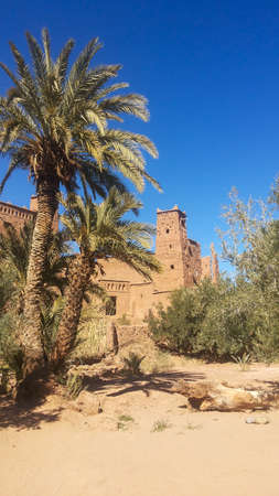 Kasbah Ait Ben Haddou in Morocco. Unesco World Heritage view
