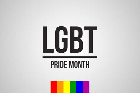 LGBT Pride Month in June. Lesbian Gay Bisexual Transgender. Celebrated annual. LGBT flag. Rainbow love concept. Human rights and tolerance