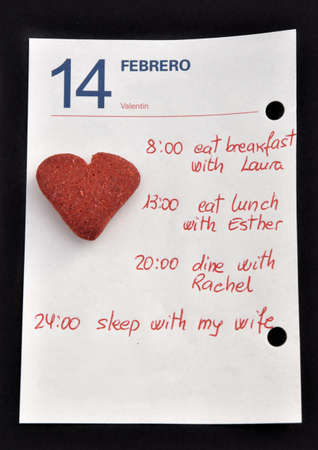 exhaustive: Valentines Day Notes. Exhaustive Day With the complete agenda.