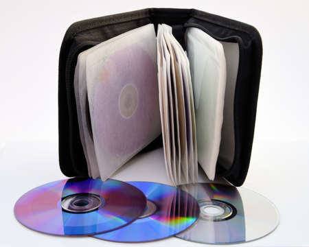 classifier: Classifier of compact discs of data or music. Stock Photo