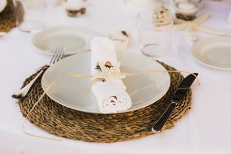 Wedding cutlery Stok Fotoğraf
