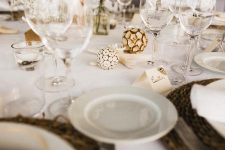 Centerpiece in a wedding