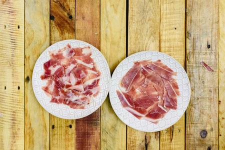 Serrano ham dish just cut to be more tasty and healthy. Фото со стока