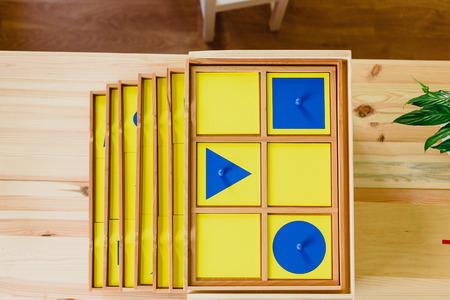 Geometry material montessori 스톡 콘텐츠