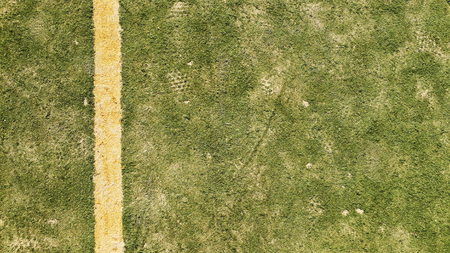 Lines on a green background soccer field
