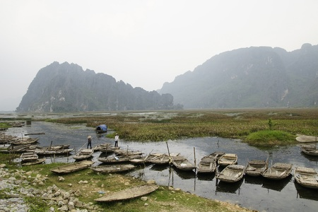 Traditional fishing boat in Vietnam