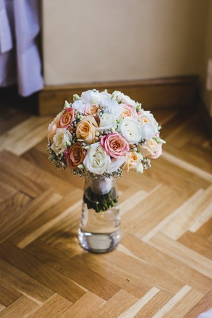 Colorful isolated bridal bouquet for a wedding Reklamní fotografie