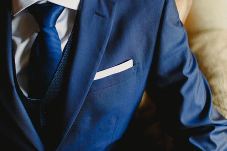 man suit with elegant tie Banque d'images