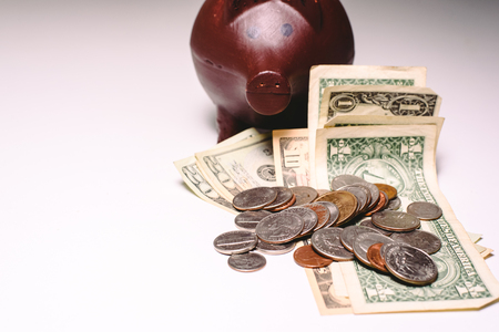 piggy bank to save, personal finances and economy