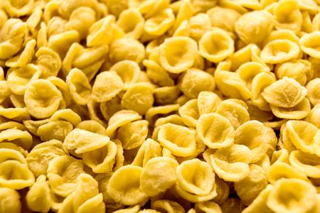 Orecchiette, Italian wheat semolina pasta.