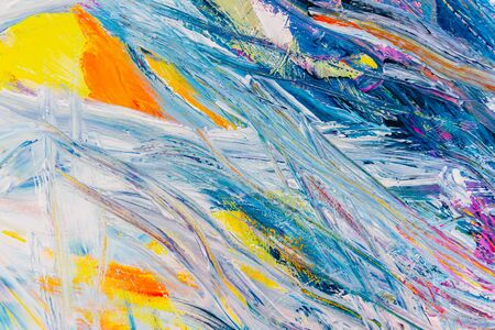Detail of brush strokes of random colors to use as background and texture in crafts at school.