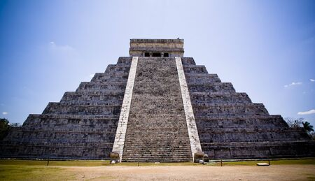 Temple of Kukulcan, main pyramid in Chichen Itza, Mexico.