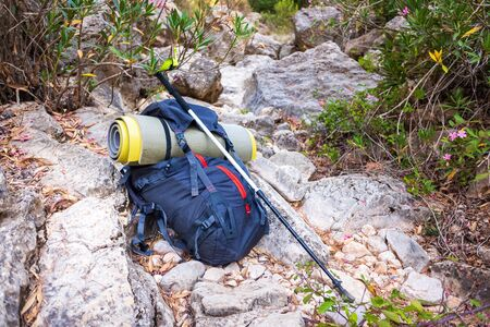 Excursions to the mountain of hikers need a backpack to sleep in camping.