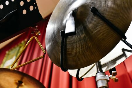 Cymbals of a drum set 스톡 콘텐츠