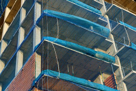 Mandatory protection networks in buildings and building works to avoid accidents. Imagens