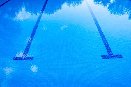 Background of a sports swimming pool, with no one.