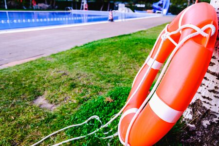 Lifeguard float ring mandatory in all hotel and resort pools.