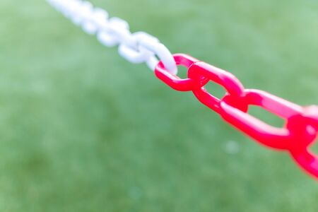 Chains with unfocused background and copy space for background use. Reklamní fotografie