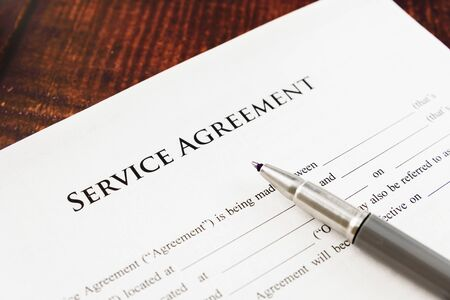 Service agreement with abusive clauses brought to court in a lawsuit.