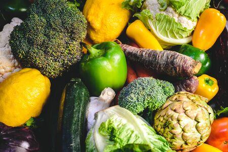 Variety of fresh vegetables for detox diet.