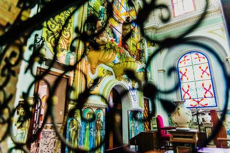 Valencia, Spain - October 21: Interior of the Sacred Heart of Jesus parish in Patraix. Редакционное