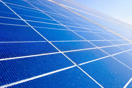 Close-up of silicon texture from photovoltaic solar panels.